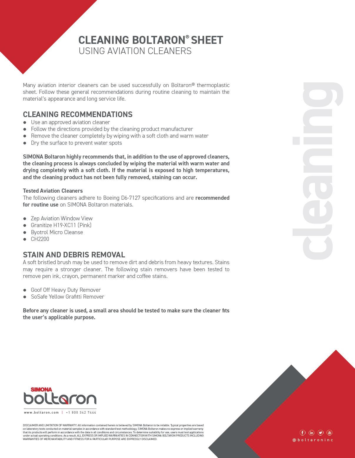 Care and Maintenance - Boltaron