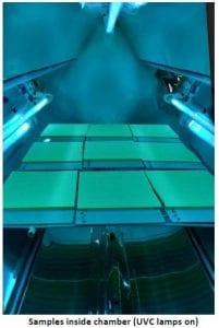 UVC test chamber